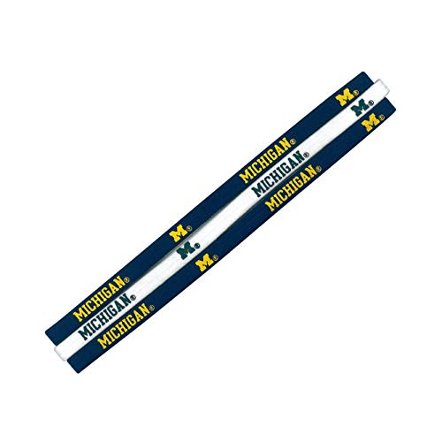 (NCAA Michigan Wolverines Elastic Headband)