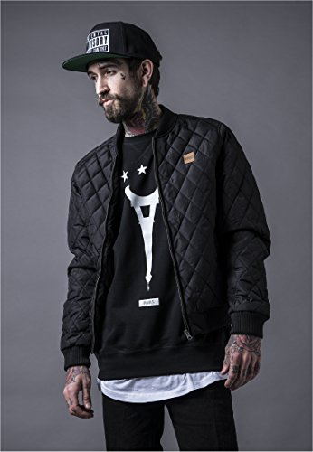 Bomber Nylon Jacket Quilted (Urban Classics Mens Light Jacket TB862 Diamond Quilt Nylon Jacket Color: black in Size: Small)