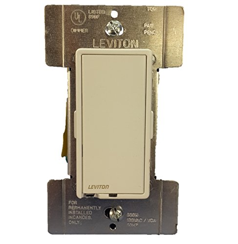 Leviton R10-6606-1LM Residential Grade Incandescent True Touch Dimmer Switch