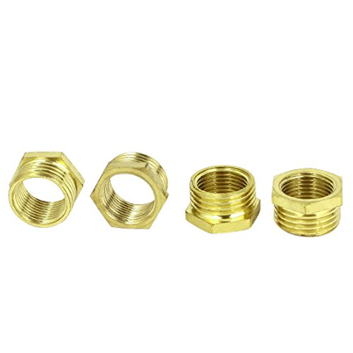 Bsp m f hex head brass bushing fitting