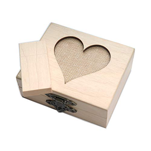1-32GB USB 3.0 Wooden Birch Drive - Packaged in Hand Made Bi