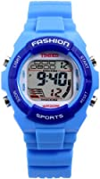 Time100 Kid's Digital Timing Multifunctional Rubber LED Alarm Boy's Girl's Sport Electronic Watch W40011