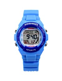 Time100 Kids' Digital LCD Rubber Multifunctional Alarm Sport Electronic Watches