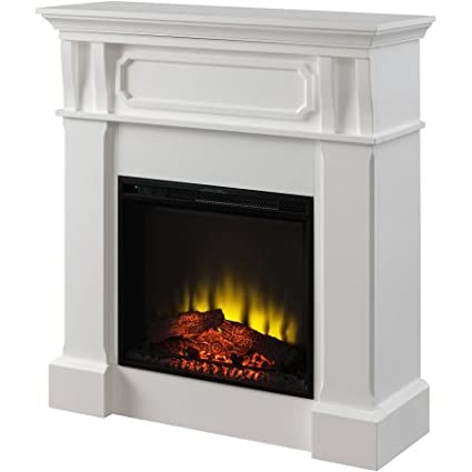 amazon com prokonian electric fireplace with 40 white mantel home rh amazon com Big Lots Electric Fireplace Sale Fireplace Mantels and Surrounds