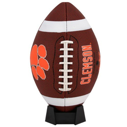 NCAA Game Time Full Size Football , Clemson Tigers, Brown, Full Size