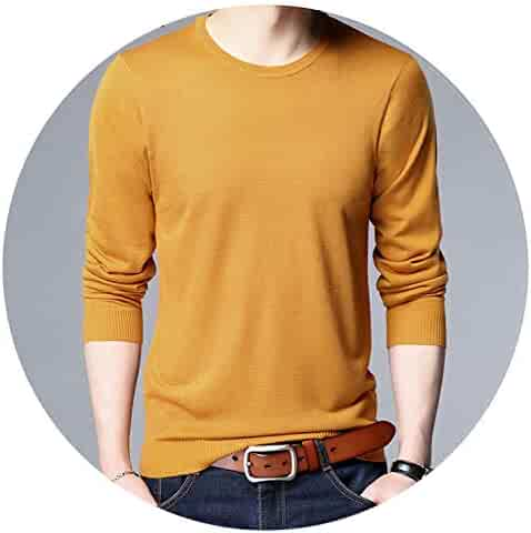 Ariosto0 Mixed Colors Sweater Men Leisure Slim Pull Homme V-Neck Long-Sleeved Sweater