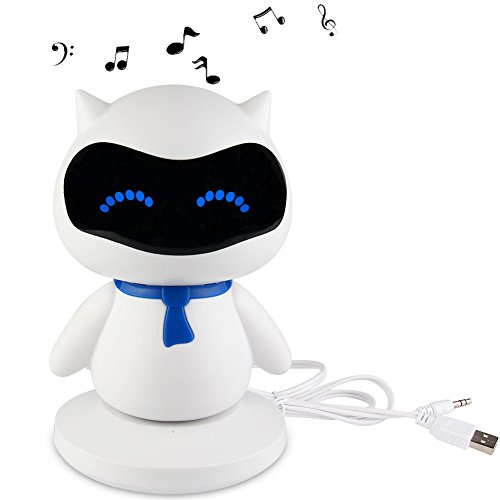 TOPCHANCES USB Charge Speaker Funny Pet Animal Speaker Design with Powerful Rich Room-filling Sound 3W Audio Driver Music Player for Children Baby Mini Parties (USB Connect) by TOPCHANCES
