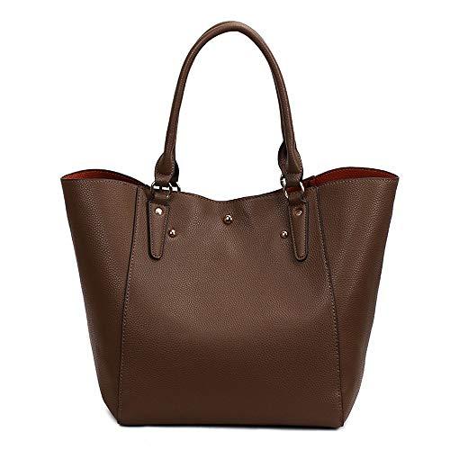Retro Shoulder Cm 29 Brown One Handbag 10 Silver 30 Fashion Fannb A4qTwaq