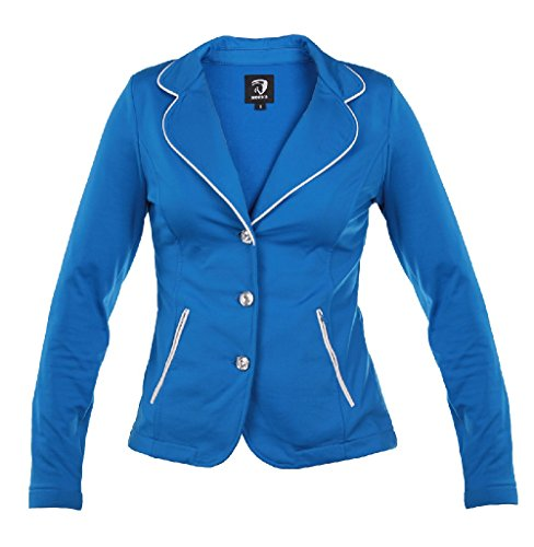 Horka Junior Lightweight SoftShell Stretch Strass Riding Competition Jacket Royal Blue