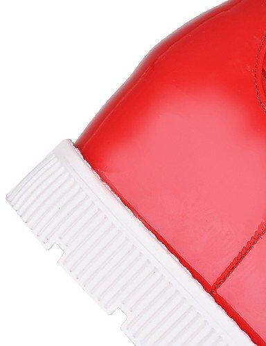 Punta 5 Botas Uk4 Cn43 Cuero Plataforma Red 5 5 De 5 Zapatos Moda Xzz us10 La 7 Patentado 5 Mujer A Uk8 Nieve Redonda us6 Red Vestido Eu42 Casual Eu37 Cn37 Semicuero wY1fwIq