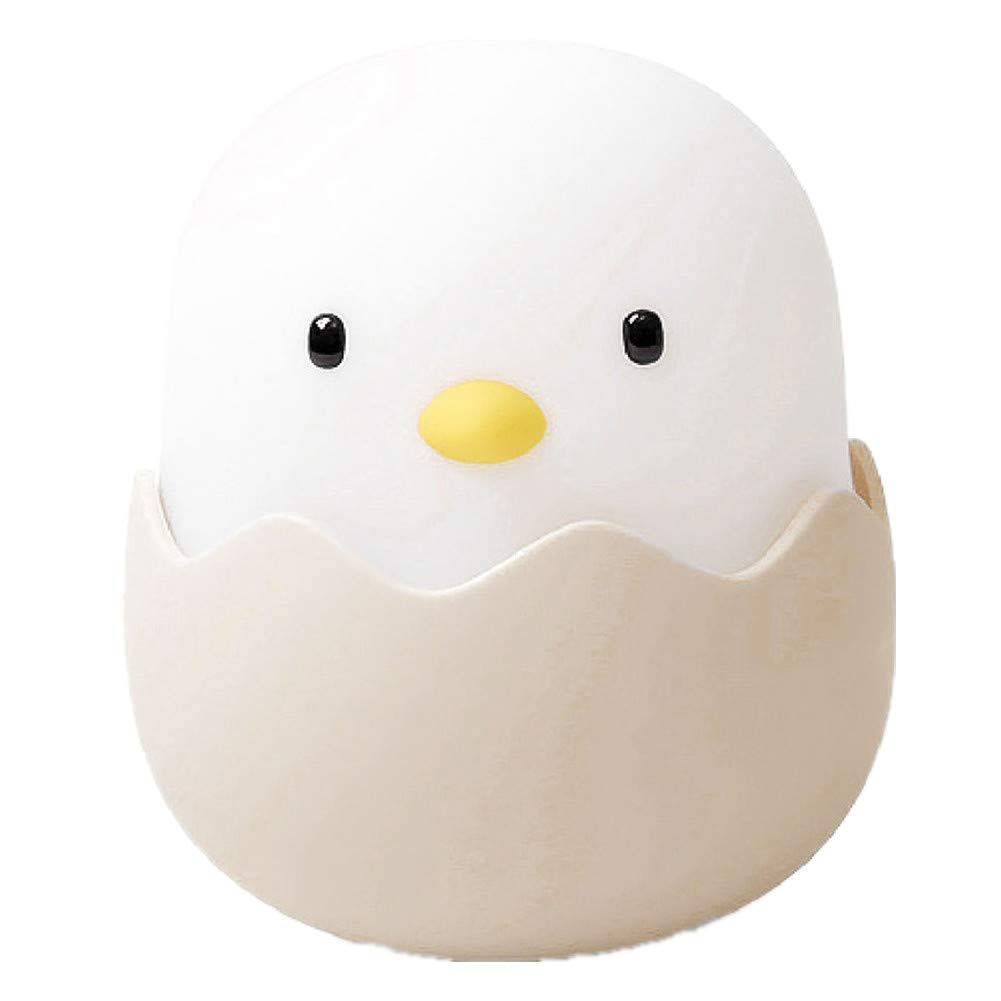 Kids Egg Shell Night Light, Baby Sleeping Lights, Rechargeable Lamp for Breastfeeding, Touch Control White