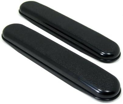 "Wheelchair Armrests, Plastic, Desk Length / 10"" Long, Black, 1 Pair"