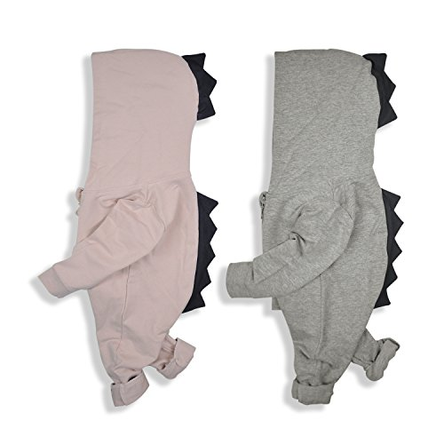 Dinosaur Outfits For Toddlers (Minilove Toddler Dinosaur Sweater Hooded Jumpsuit (90, Pink))