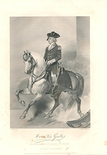 General Horatio Gates 1862 fine antique engraved historical portrait