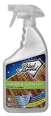 Black Diamond Wood & Laminate Floor Cleaner, For Hardwood, Real, Natural & Engineered Flooring, Biodegradable Safe for Cleaning All Floors, 32 - Microfiber Hardwood Floor Mop