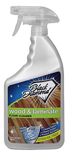 Black Diamond Wood & Laminate Floor Cleaner, For Hardwood, Real, Natural & Engineered Flooring, Biodegradable Safe for Cleaning All Floors, 32 (Engineered Hardwood)