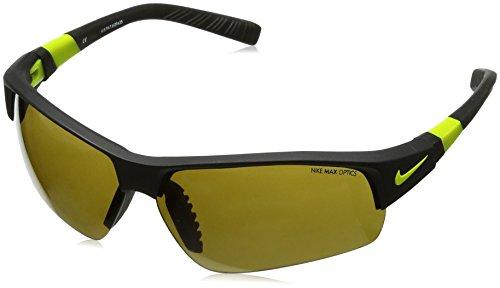 Nike Outdoor Tint/Volt Lens Show X2 Pro R Sunglasses, Matte Black/Venom - Golf Sunglasses Nike X2 Pro