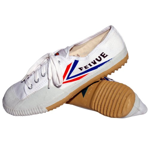 Tiger Claw Compatible with Feiyue Martial Arts Shoes - White - Size 41