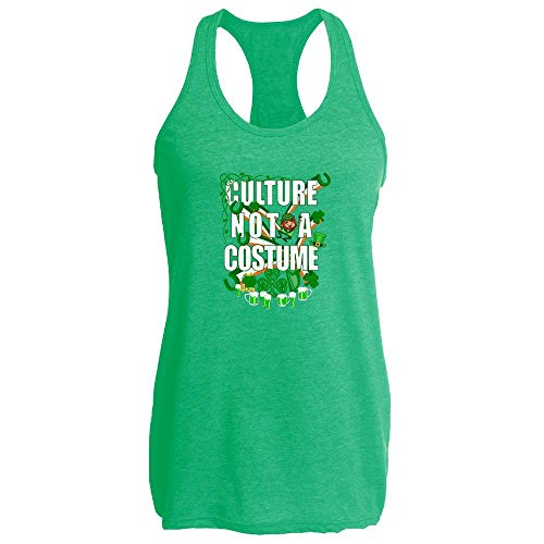 Pop Threads Culture Not A Costume St Patrick's Day Heather Kelly L Womens Tank (Culture Not A Costume Meme)