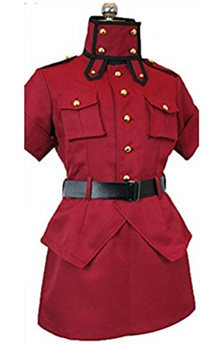 [HOLRAN Hellsing Red Cosplay Costume uniform (Female:Large)] (Seras Cosplay Costume)