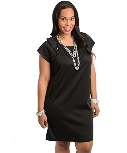 2LUV-Plus-Womens-Juniors-Cap-Sleeve-Shift-Dress