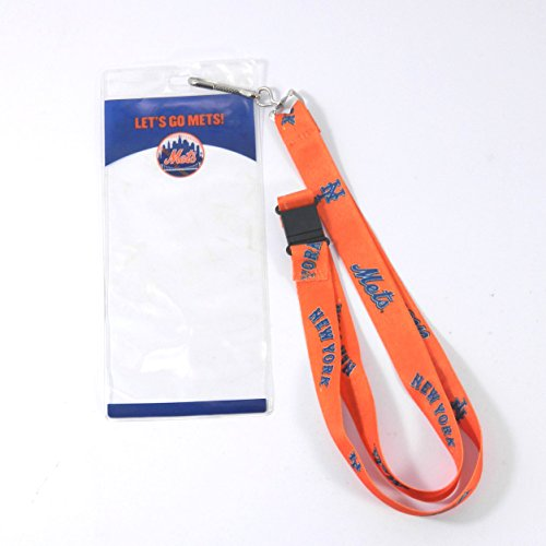 New York Mets Lanyard with Ticket Holder 'Let's Go Mets' on Holder (Lanyard New Mets York)