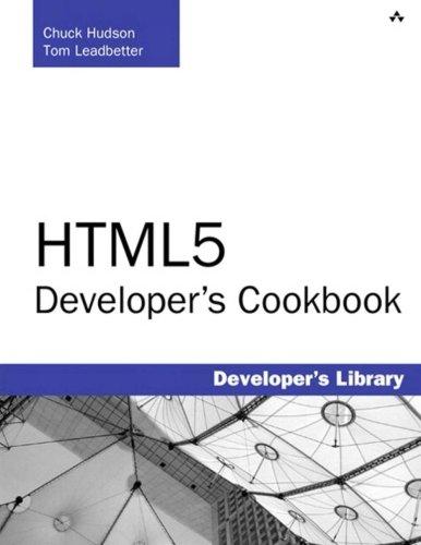 HTML5 Developer's Cookbook (Developer's Library)