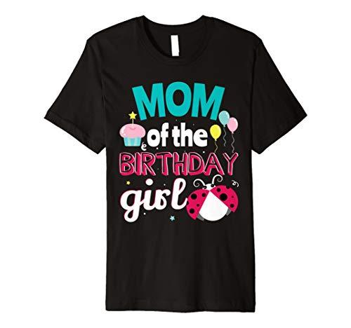 (Ladybug Birthday Party Funny Mom Cute T-shirt Lady Bug)