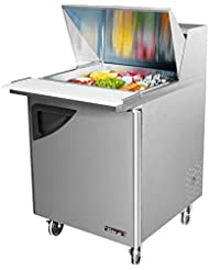 Turbo Air - Super Deluxe Mega Top 12 Pan 2 Door Stainless Refrigerated Sandwich/Salad Prep Table