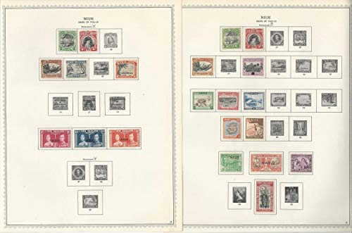 Niue Stamp Collection 1902-1986 on 85 Minkus One-Sided Specialty Pages