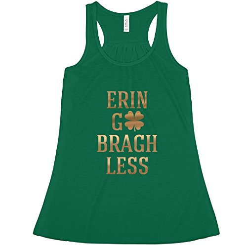 (Erin Go Bragh Less: Bella Ladies Flowy Metallic Racerback Tank)