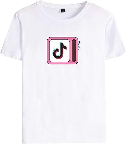 Memoryee - Camiseta de Manga Corta Unisex con Cuello Redondo y Estampado de Tick Tok - - Small: Amazon.es: Ropa y accesorios