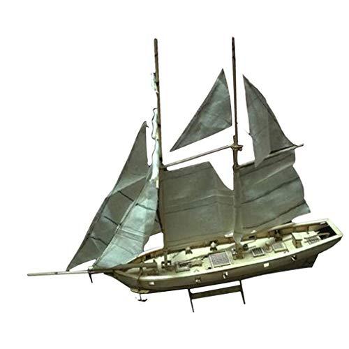 KESOTO 木製 帆船モデル 船模型 ヨットモデル