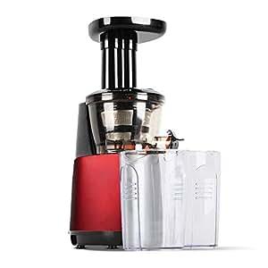 5 Star Chef Cold Press Food Processor Juicer - Red