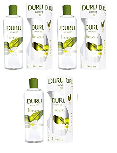 DURU LEMON TRADITIONAL TURKISH COLOGNE AFTERSHAVE 400ML (3 PCS OFFER)