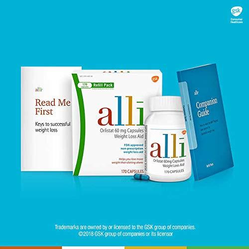 alli Orlistat 60 mg, 170 Capsules Refill Pack (510) - Orlistat 60 Mg Refill