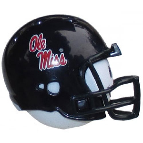 Mississippi Rebels Football (R) Car Antenna Topper + Yellow Smiley Antenna Ball