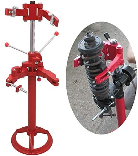 HTTMT- Vehicle Auto Spring Compressor Hand Operate 20 Inch Max.Height Strut Coil Spring Press [P/N: ET-CAR-FIX003-RED]
