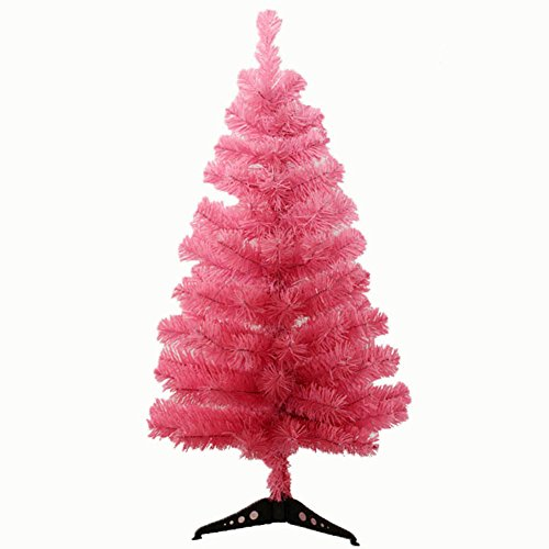 Remeehi New Artificial Christmas Tree Home Office Christmas Decoration (Pink, 90cm/3ft)