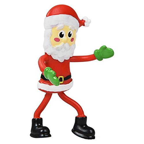 - Christmas Bendable Figures - Bendable Santa Claus Figurines Perfect for Christmas Stocking Stuffers, Holiday Party Favors (1 Dozen)