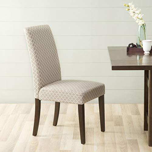 Home Centre Richmond Contemporary Solid Wood Dining Chair   Rich Brown