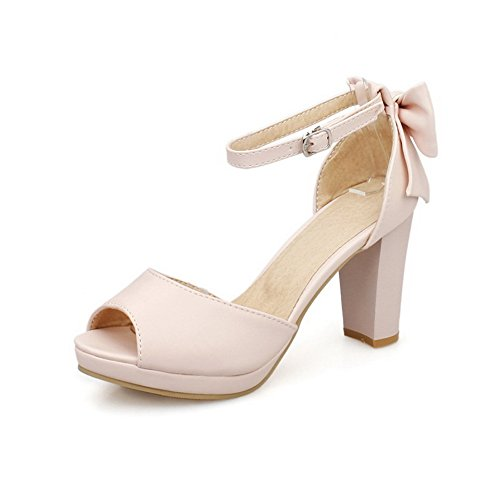 1TO9 Womens Oversized Peep-Toe Huarache Urethane Sandals MJS03307 Pink rdwmeqnwE