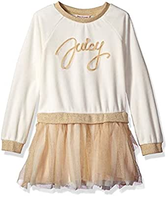 Juicy Couture Toddler Girls' Dress, Vanilla/Gold, 2T