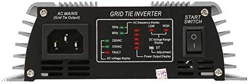 Wocume Solar Wechselrichter, 600W Gitterbindung Rein Sinus W-Ave Haushalt Solar Wechselrichter 22-60V(AC 220-240V; EU Plug)