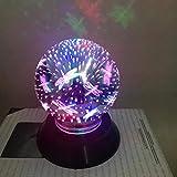 Light,YJYDADA USB Charging LED Colorful 3D Magical Light Home Party Decoration (C)