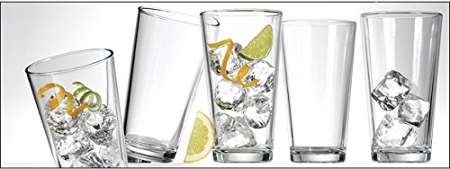 Clear Drinking Glasses & Tumbler Set Pub Beer Glass, 16-Ounce,Set of 10