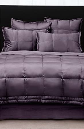 amazoncom dkny luxury bedding donna karan 100 silk quilt with tufted border queen haze home u0026 kitchen