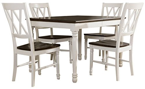Crosley Furniture Shelby 5-Piece Dining Set, White