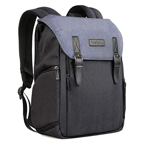 Inateck Camera Backpack Water-Resistant Shockproof Bag Case for DSLR/SLR/Mirrorless Camera with Laptop Compartment, Rain Cover, Tripod Holder