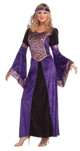 Forum Medieval Maiden Deluxe Costume, Purple/Black, Standard (Costume Medieval Maiden)